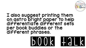 Book Talk Prompts