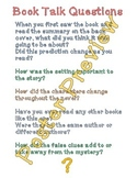 """Book Talk Questions 2 (16""""x20"""") Printable Poster"""
