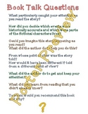 """Book Talk Questions 3 (16""""x20"""") Printable Poster"""