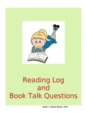 Book Talk Questions and Reading Log