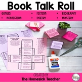 Book Talk Reading and Writing Reflection Roll Game