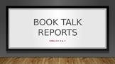 Book Talk Report
