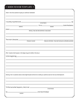 Book Talk / Book Review Report Template and Example (Like on Reading Rainbow!)