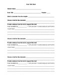 Book Talk Sheet (literary text standards aligned)