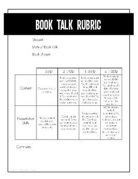 Book Talk book report freebie!