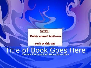 Book Talk Template