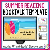 Book Talk Template | Summer Reading | Distance Learning