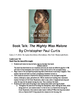 Book Talk: The Mighty Miss Malone