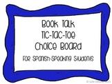 Book Talk Tic Tac Toe Spanish Version
