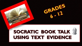 Back to School Book Talk - Using Text Evidence