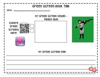 Book Talk with Green Screen and the app Doink QR Code