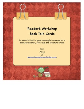 Book Talk/Literature Circles Conversation Cards