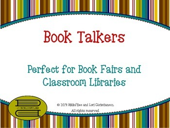 Book Talkers for Book Fairs and Classroom Libraries ~ Starter Pack