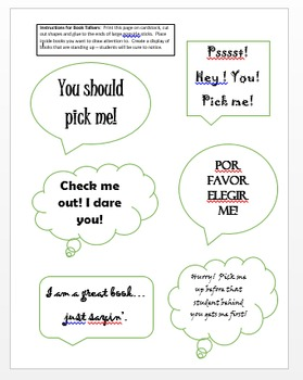 Book Talkers (visual book display tool)