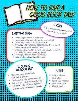 Book Talking Made Easy! for Intermediate & Middle School Grades