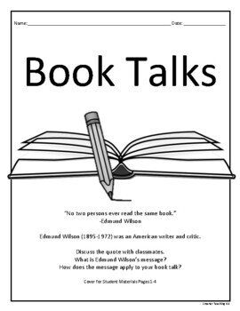 Book Talks: Reading, Writing, Art, And Public Speaking