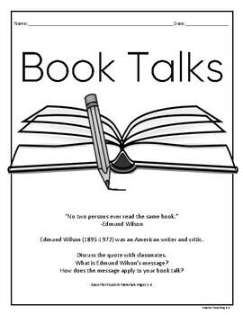 Book Talks: Reading, Writing, Art, Public Speaking