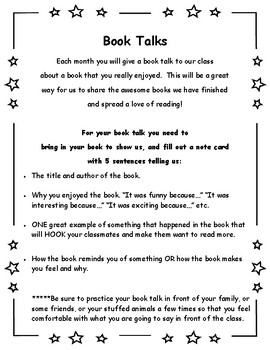 Book Talks (the better book report!)