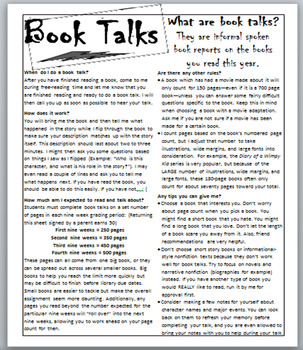 Book Talks - A Great Alternative to Book Reports and AR Tests