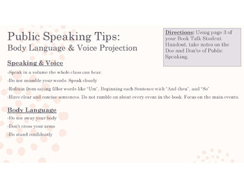 Book Talks Book Report: A Public Speaking Unit for Silent Reading Choice Books
