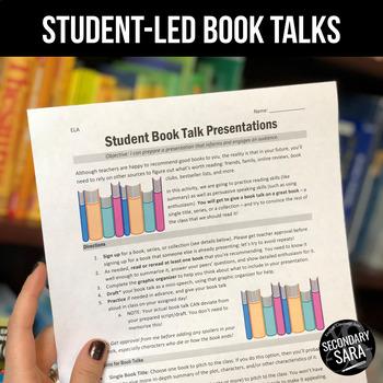 Book Talks: Student-Led Presentation Project for ELA