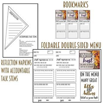 "Book Tasting ""Bestseller Feast"" Activity Event Set Thanksgiving Themed"