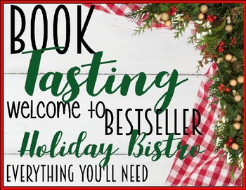 """Book Tasting """"Bestseller Holiday Bistro"""" Activity Event Set Holiday Christmas"""
