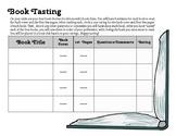 Book Tasting Book Club Preview Worksheet