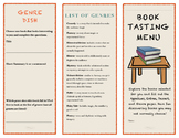 Book Tasting Genre Menu library reading promotion