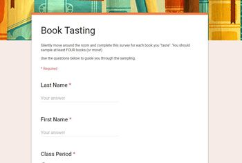 Book Tasting Google Form