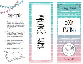 Book Tasting Menu / Brochure!