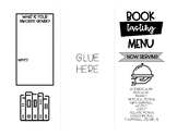 Book Tasting Menu: Fill in the Blank