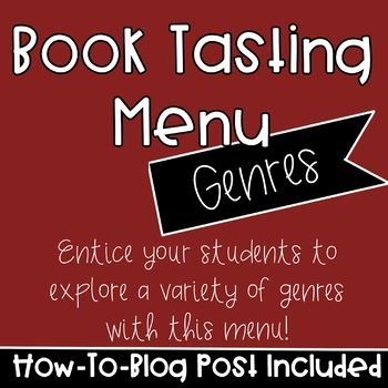 Book Tasting Menu - For Genres