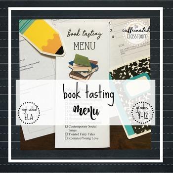 Book Tasting Menu | Secondary ELA