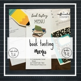 Book Tasting Menu | Secondary ELA