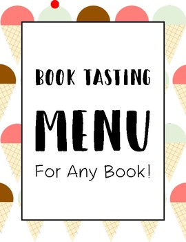 Book Tasting Menu for Any Book