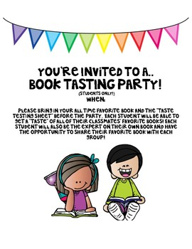 Book Tasting Party!
