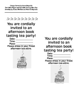 Book Tasting Tea Party