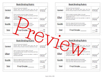 Book Template-Book Binding, Reading, Reading Challenges, Independent Reading