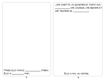 Book Template for La Chenille Qui Fait Trous