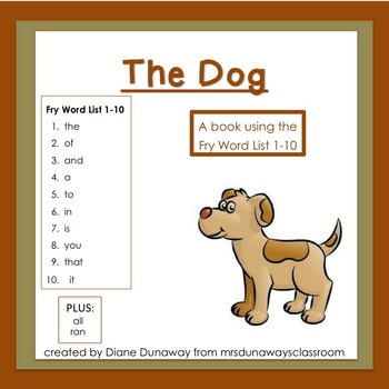 Book: The Dog (first 10 Fry words)