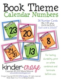 Book Theme Calendar Numbers