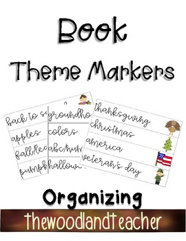 Book Theme Organization Markers