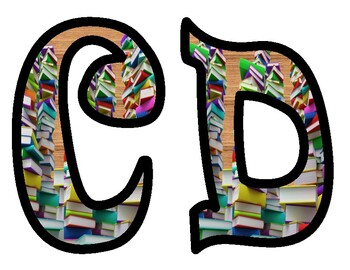 Book Themed Alphabet Letters