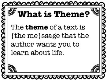 Text / Book Theme Poster Set Common Core Aligned