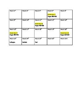 Book Thief Calendar