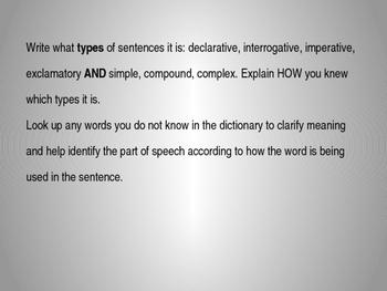 Book Thief Grammar Mentor Sentences