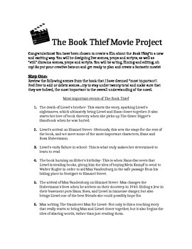Book Thief Performance Task...Making a Movie!