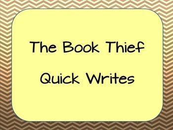 Book Thief- Quick Writes