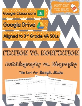 Fiction vs Nonfiction and Biography vs Autobiography Book Title Sort